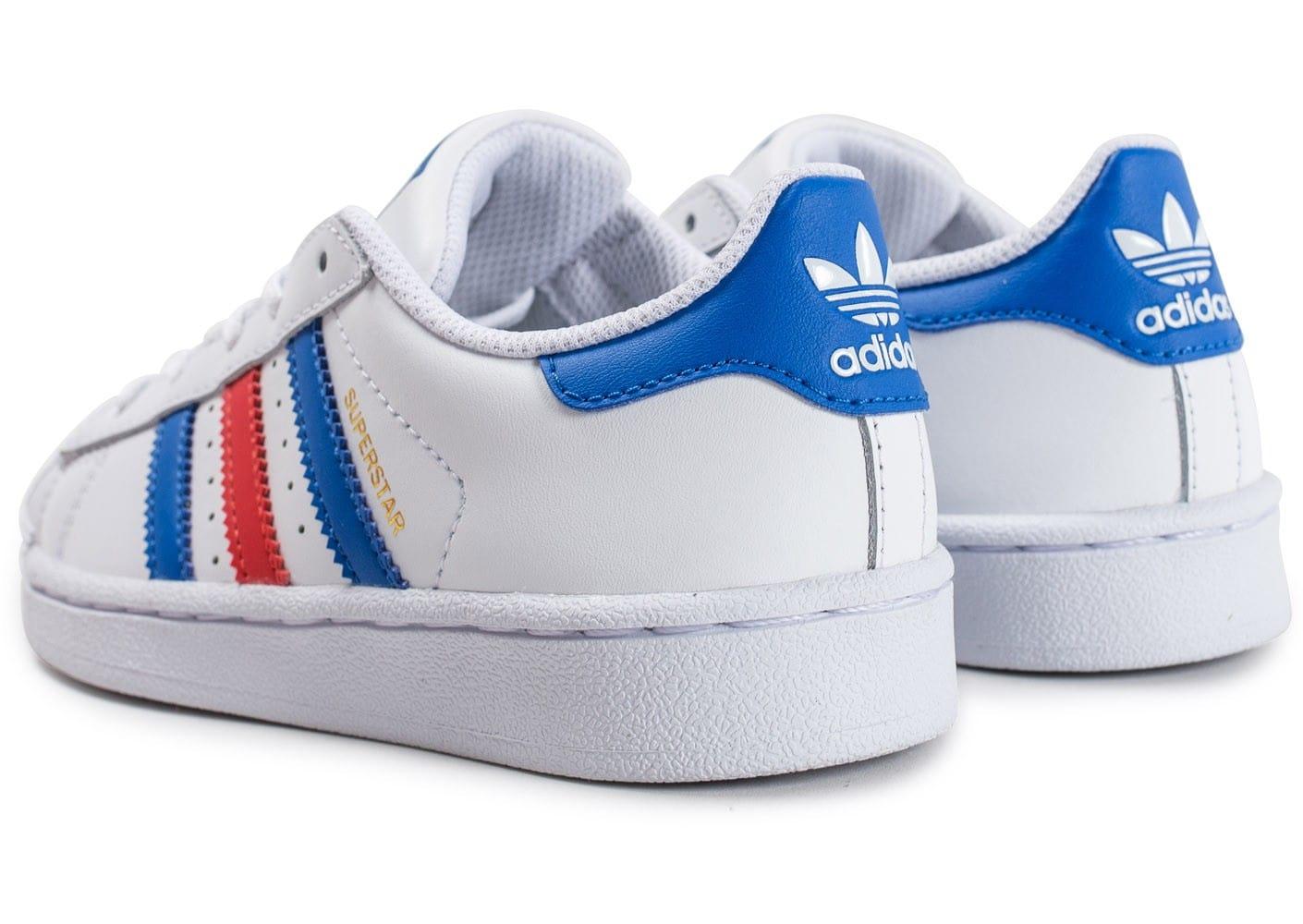 adidas superstar bande bleu blanc rouge
