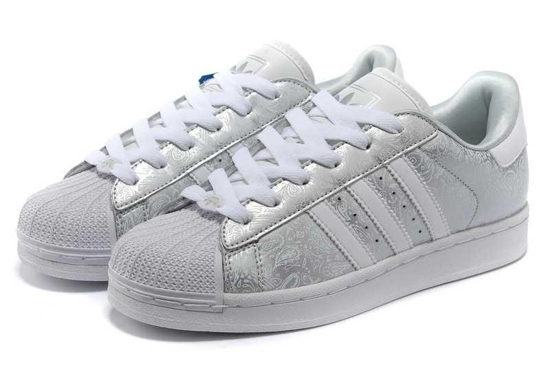 impression carte hydrogène adidas superstar jw chaussures blanc ...